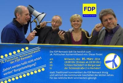 2014 FDP 14. Aschermittwoch Remseck HP
