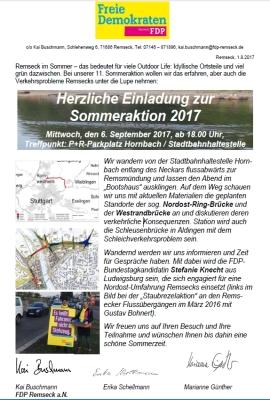 2017 - Sommeraktion FDP Remseck HP